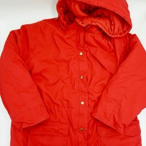 GAP Red Puffer Winter Jacket NWOT Removable Hoodie